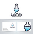 lab talk logo design vector image vector image