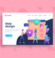 landing page template web design development vector image
