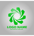 Logo green vector image vector image