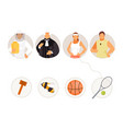 match professions and objects 2 vector image vector image