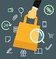 Media shopping concept vector image vector image