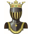 Medieval knight head in helmet vector image