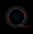 metal black circle with light scene vector image vector image