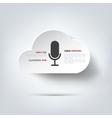 Microphone icon Voice recording vector image
