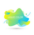 modern graphic design elements in shape fluid vector image vector image