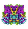 oni head mascot logo design vector image vector image