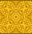 orange seamless kaleidoscope pattern background vector image