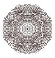 ornament hand drawn mandala template vector image vector image