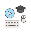 post graduate course online learning icon concept vector image vector image