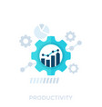 productivity productive capacity and performance vector image vector image