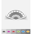 realistic design element folding fan vector image