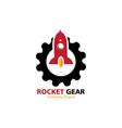 rocket gear logo vector image vector image