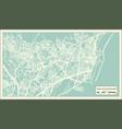 santa cruz de tenerife spain city map in retro vector image vector image