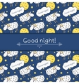 Seamless pattern with images cute sheep on vector image vector image