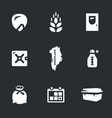 Set of arctic seed storage icons vector image
