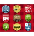 Set of Ski Club Patrol Labels Retro Mountain vector image vector image