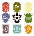 set sports labels with soccer football symbols vector image vector image