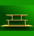 Shelf on green wall1 vector image