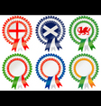six nations rosettes vector image vector image