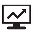 Stock Charts Icon vector image vector image