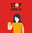 stop covid19-19 coronavirus concept novel vector image