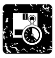 Stopwatch icon grunge style vector image vector image