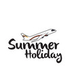 summer holiday flying plane background imag vector image vector image