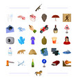 technology medicine travel and other web icon in vector image vector image