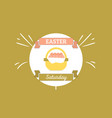Template for holiday easter vector image