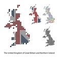 UK Great Britain Map color dotted design vector image