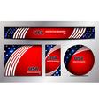 USA Flag Banner Design vector image