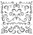 vintage decorative curls and swirls set vector image vector image
