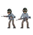 weapon gun armed terrorist soldier threat evil vector image vector image