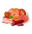 with meat products of vector image vector image