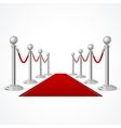 red event carpet isolated on white vector image