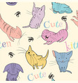 Little kittens pattern vector image