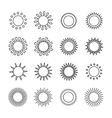 Set of sun web iconssymbolsign in flat style Suns vector image