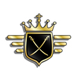 Shield with crown vector image