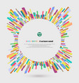 abstract of 360 degree colorful crayon lines vector image vector image