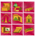 assembly flat shading style icon economics vector image
