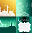 attractive set of eid festival background vector image vector image