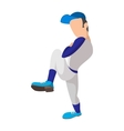 Baseball pitcher cartoon icon vector image vector image