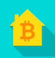 bitcoin house flat icon vector image