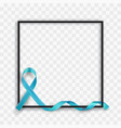 blue prostate cancer awareness symbolic ribbon vector image