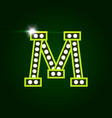 casino and resort letter m luxury letter vector image vector image