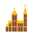 Catholic church flat icon vector image