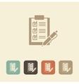 Checklist with pen icon vector image