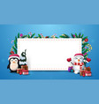 christmas template with white large blank paper vector image vector image