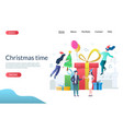 christmas time website landing page design vector image vector image
