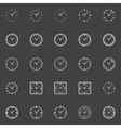 Clocks line icons